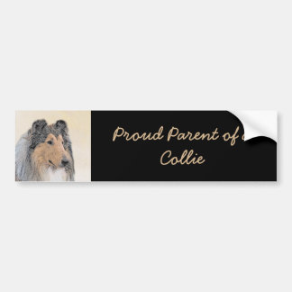 Collie (Rough) Painting - Cute Original Dog Art Bumper Sticker