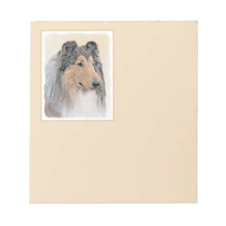 Collie (Rough) Painting - Cute Original Dog Art Notepad