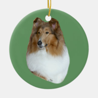 Collie- sable head study Ornament