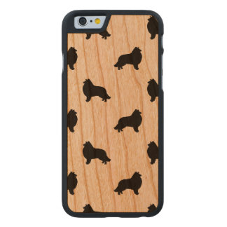 Collie Silhouettes Pattern Carved® Cherry iPhone 6 Slim Case
