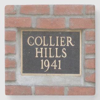 Collier Hills, Atlanta, Marble Coasters Stone Beverage Coaster
