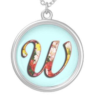 Collier initial de monogramme de W