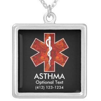 Collier médical d asthme Personnalisable