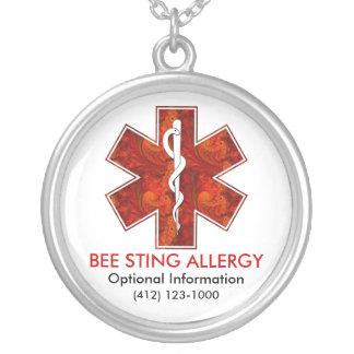 Collier médical d'allergie   de piqûre d'abeilles