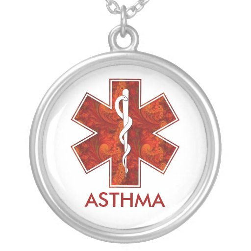 Collier médical   d'asthme : Personnalisable