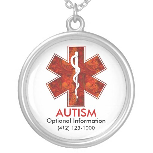 Collier médical   d'autisme : Personnalisable