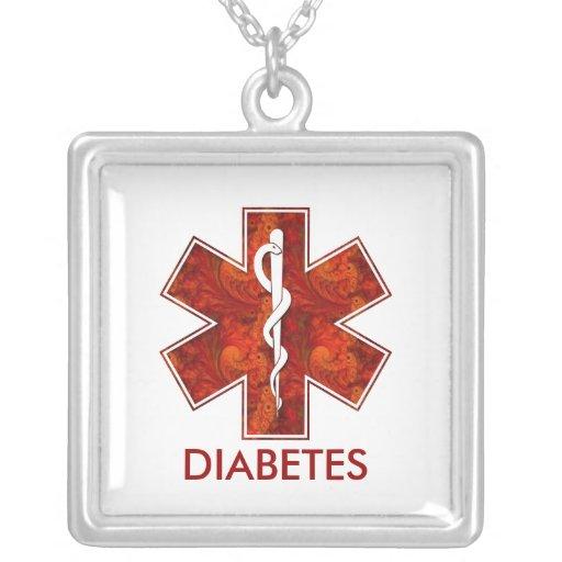 Collier médical   de diabète : Personnalisable