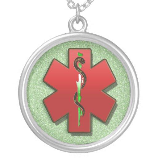 Collier médical de symbole