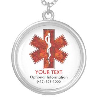 Collier médical personnalisable d identification d