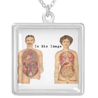 Collier médical vintage d'anatomie
