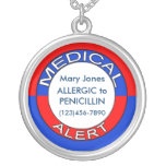 Collier vigilant médical personnalisable