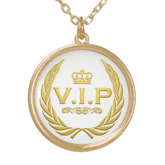 collier VIP Plaqué Or Gold Plated Necklace
