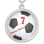 Colliers personnalisés du football avec le nombre