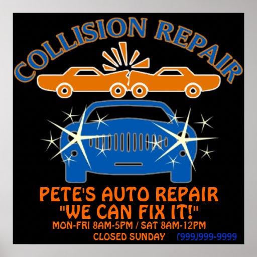 Collision Auto Repair Business Poster