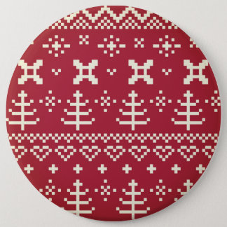 Collosal button : folk Red and White