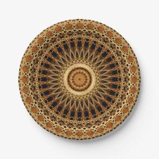 Colluseum Mandala 7 Inch Paper Plate