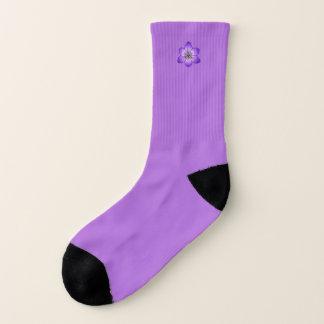 Coloful Crocus Flower Violet Small Socks 1