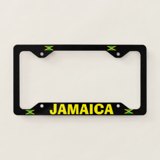 Coloful Jamaica Metal License Frame
