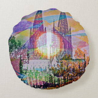 Cologne and the cathedral round pillow