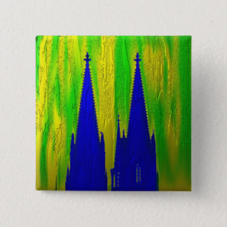 Cologne cathedral 2 inch square button
