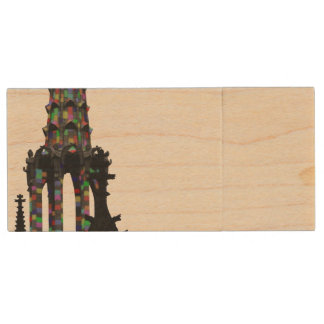 Cologne cathedral USB stick Wood USB 2.0 Flash Drive