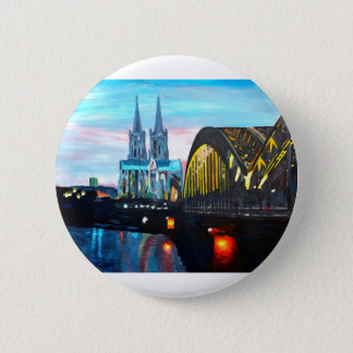 Cologne Cathedral with Hohenzollernbridge 2 Inch Round Button