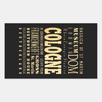 Cologne City of Germany Typography City Art Sticker