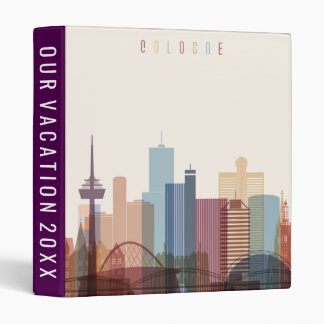 Cologne, Germany | City Skyline 3 Ring Binders