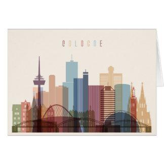 Cologne, Germany | City Skyline Card