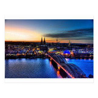 Cologne Germany Skyline Postcard