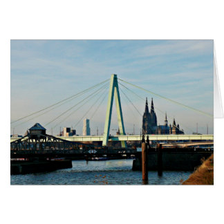 Cologne greeting map card