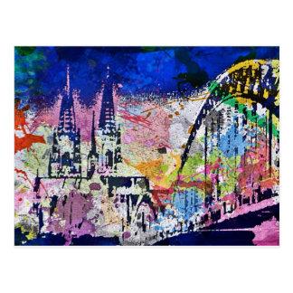 Cologne is multicolored postcard