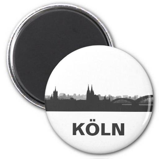 Cologne skyline refrigerator magnet