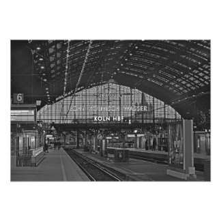 Cologne train station photo print