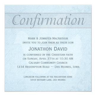 Colombe de Saint-Esprit de confirmation et bleu Carton D'invitation 13,33 Cm
