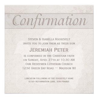 Colombe de Saint-Esprit de confirmation et Taupe d Invitations Personnalisées