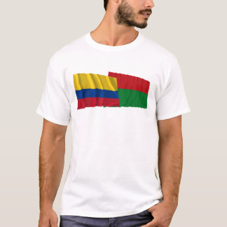Colombia and Arauca Waving Flags T-Shirt