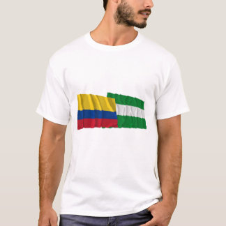 Colombia and Cesar Waving Flags T-Shirt