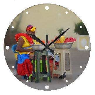 Colombia - Caribbean Fruit Vendor Wallclock