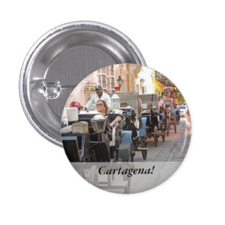 Colombia-Carriage Ride in Cartagena 1 Inch Round Button