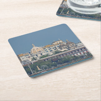 Colombia-Cartagena Waterfront Square Paper Coaster