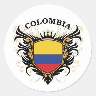 Colombia Classic Round Sticker