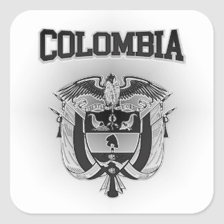 Colombia  Coat of Arms Square Sticker