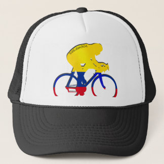 Colombia cyclist Colombian flag bicycle gear Trucker Hat