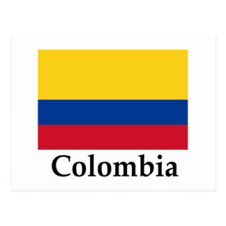 Colombia Flag And Name Postcard