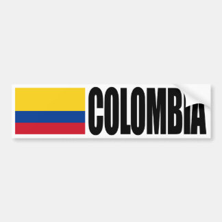 Colombia Flag Bumper Sticker