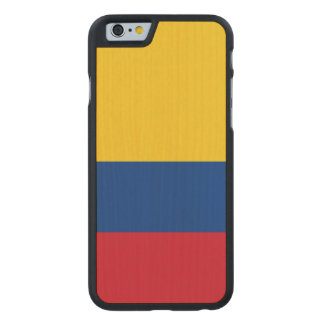 Colombia Flag Carved Maple iPhone 6 Case