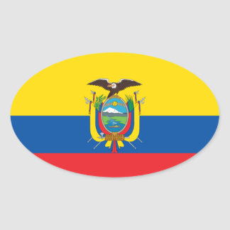Colombia Flag Euro-style Sticker