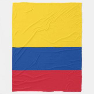 Colombia Flag Fleece Blanket