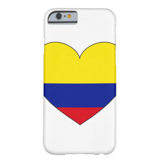 Colombia Flag Heart Barely There iPhone 6 Case